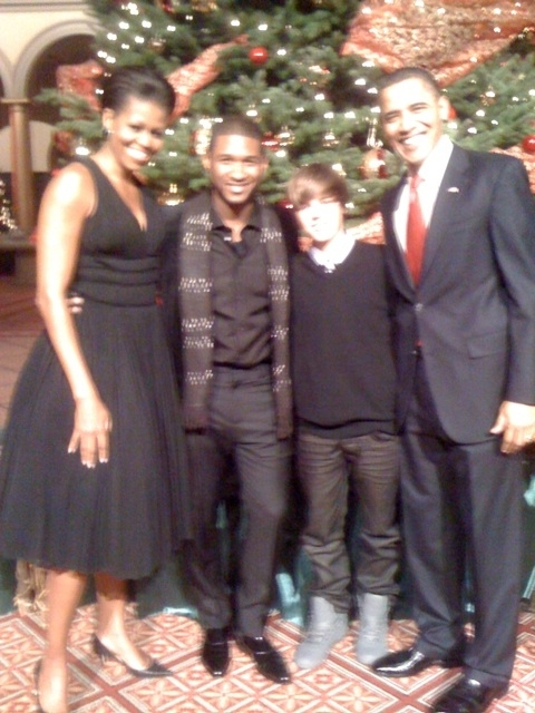Bieb, Usher, and THE PRESIDENT