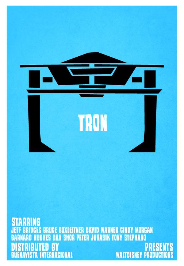 8 Minimalist Tron Posters