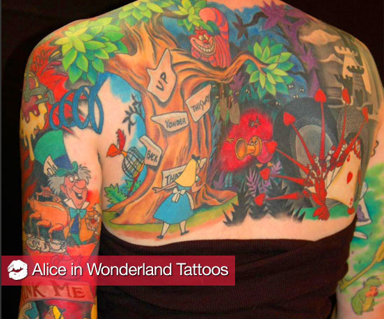 The Best Alice In Wonderland Tattoos
