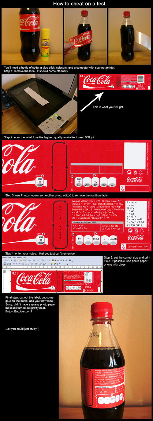 Coke Cheat Sheet