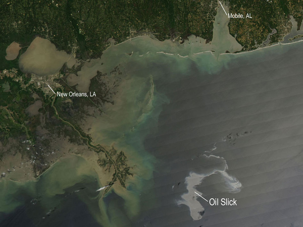 Oil Slick As Seen From Space