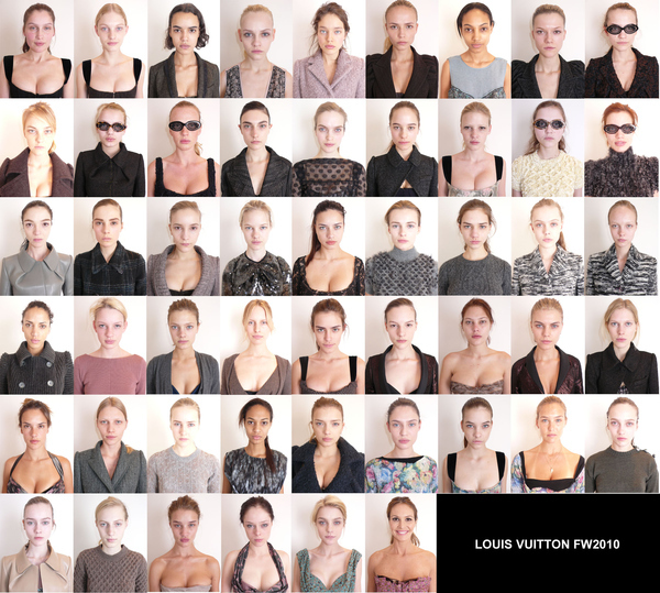 Models Without Makeup: Louis Vuitton Edition