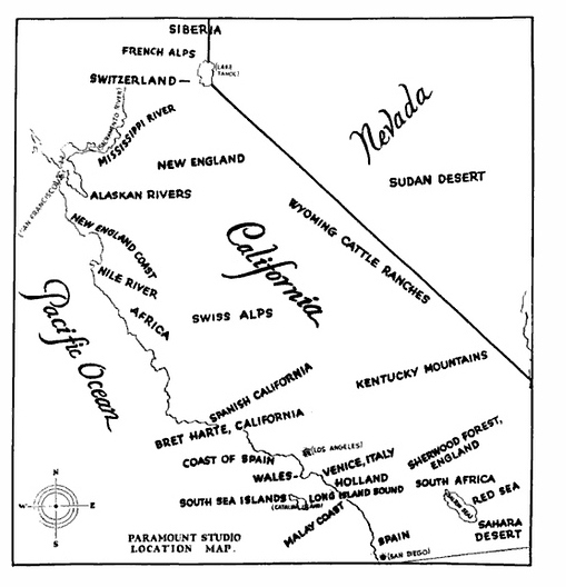 Paramount Studios Map Of California