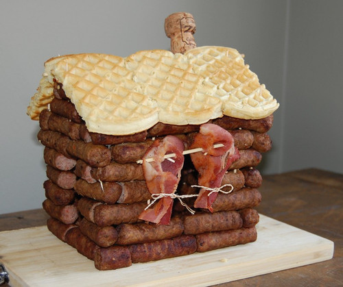 Sausage Log Cabin