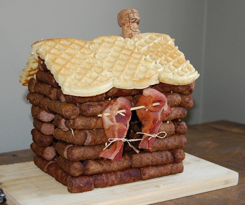 We know you're looking down from your sausage log cabin in heaven.