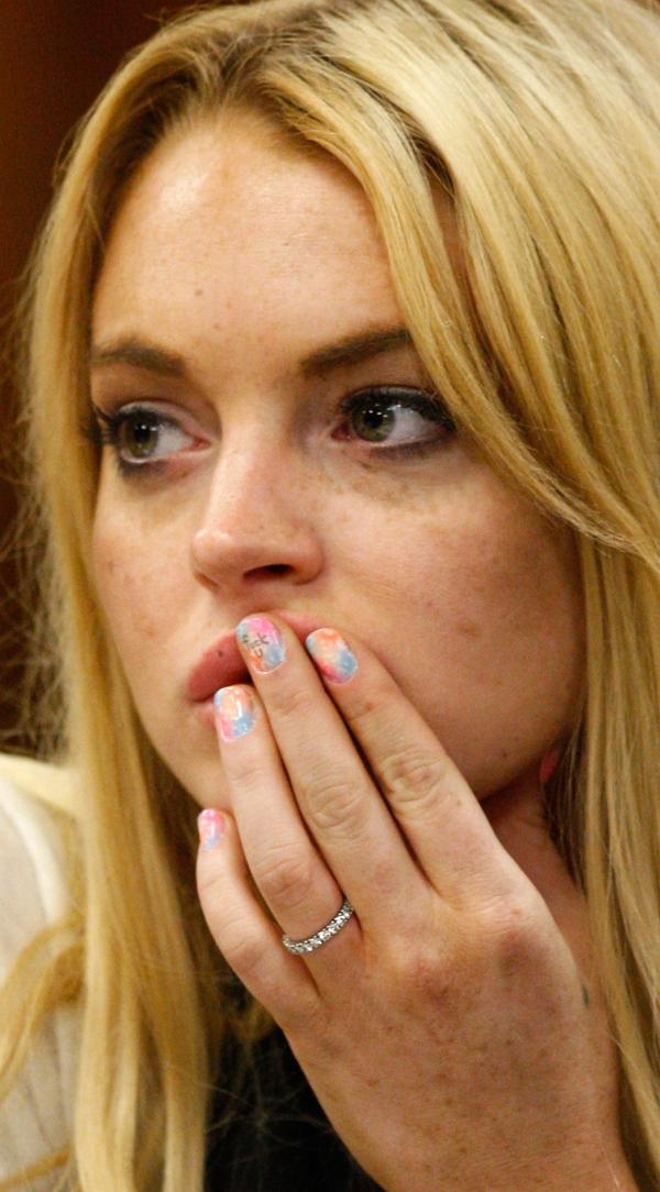 Lindsay Lohan's Court Manicure