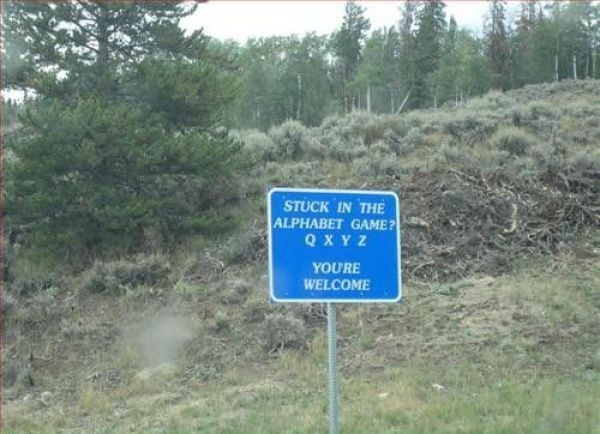 The Most Useful Highway Sign In Existence
