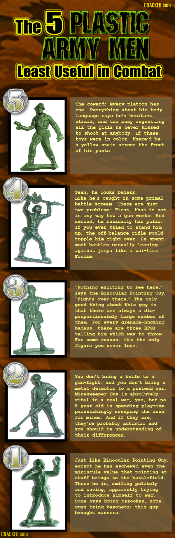 The 5 Plastic Army Men Least Useful in Combat