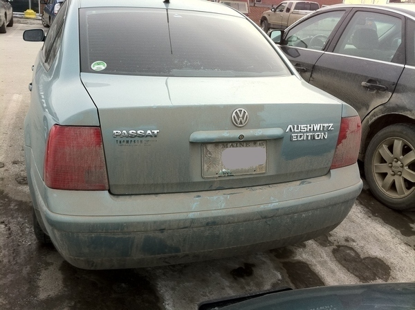 What Misspelling Nazi Drives This Passat?