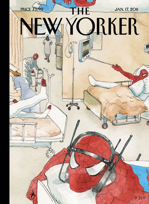 Injured Spider-Man New Yorker Cover