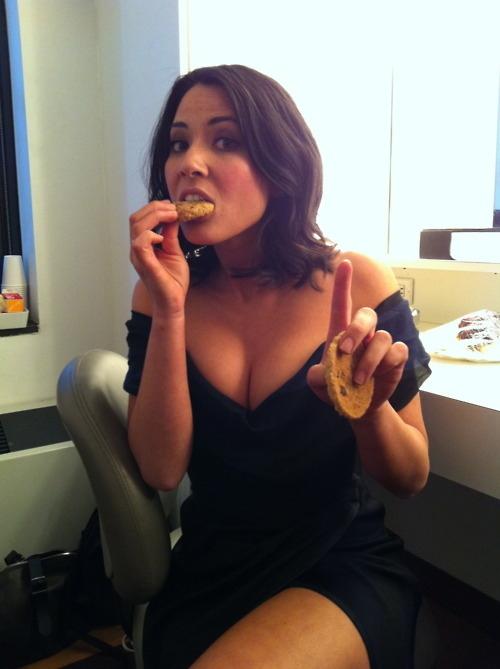 Olivia Munn Eating Cookies