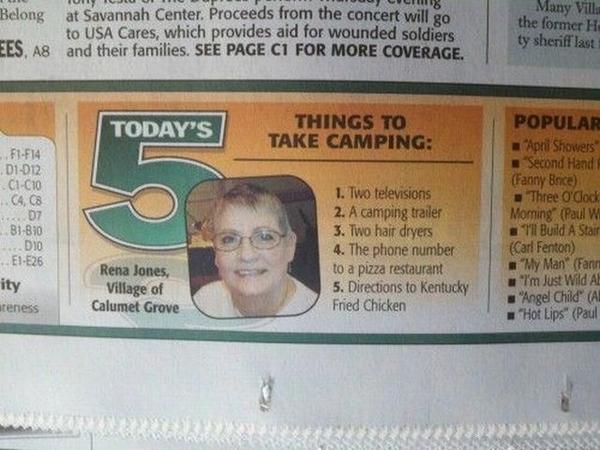5 Things Everyone Needs To Take Camping