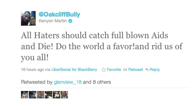 NBA Player Kenyon Martin Wishes AIDS On His Haters
