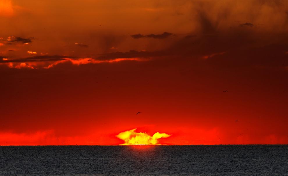 Pikachu Sunrise Over Argentina