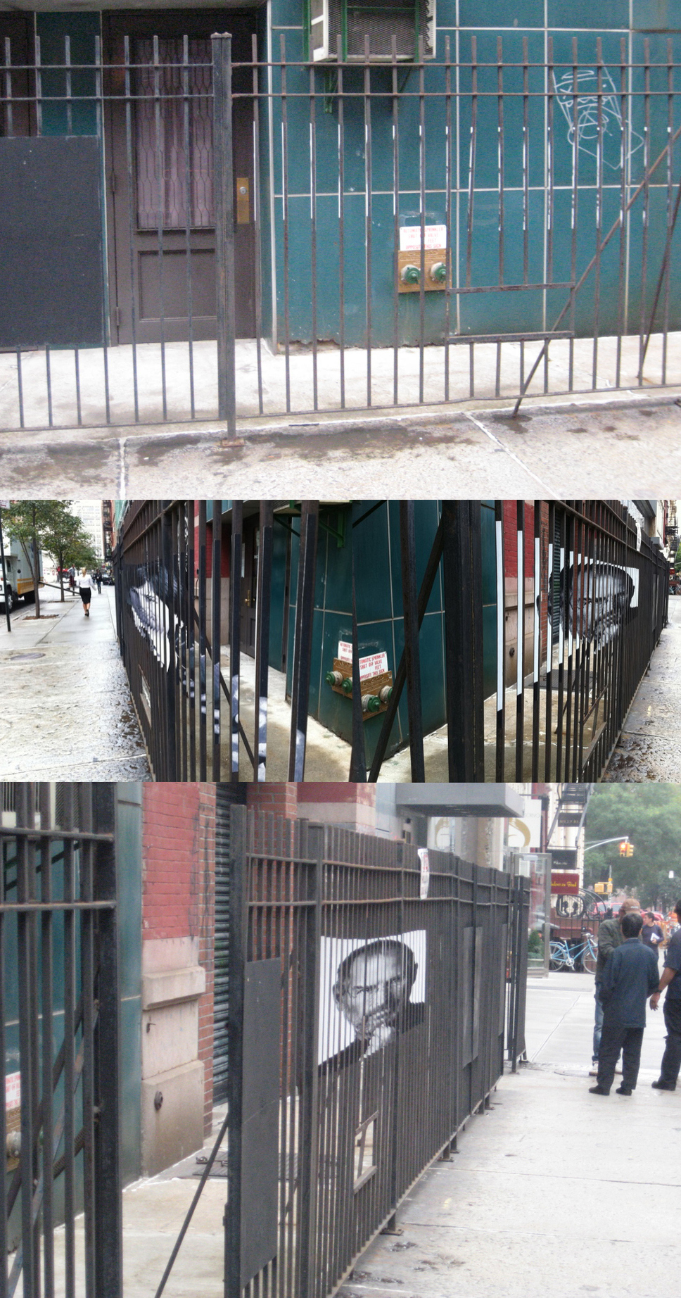 Awesome Steve Jobs Tribute On A Fence In New York City