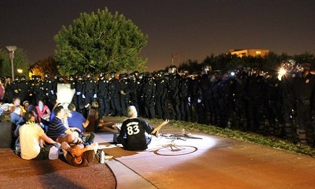 Police Call For Backup At #OccupyPhoenix Protest