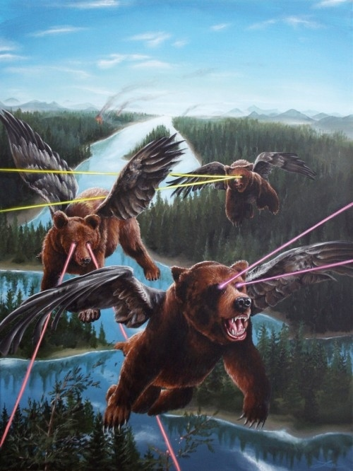 Flying Winged Bears With Frickin' Laser Beams Coming Out Of Their Eyes