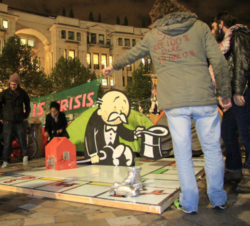 Banksy Contributes A Sculpture To Occupy London