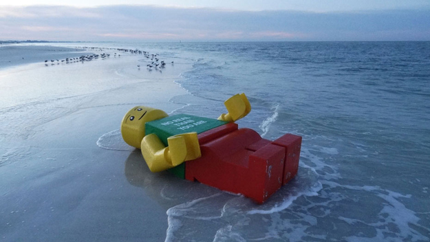 Giant Lego Man Found Washed Up On Beach