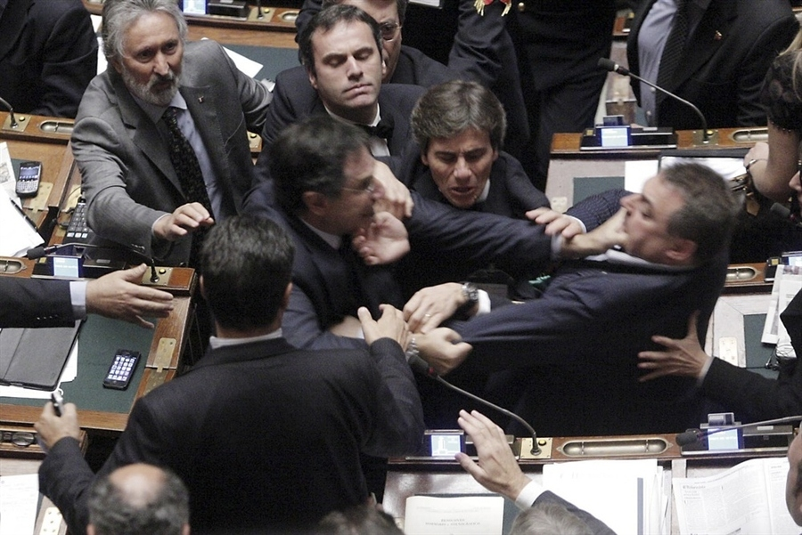 Insane Photo Of Two Members Of Italian Parliament Fighting