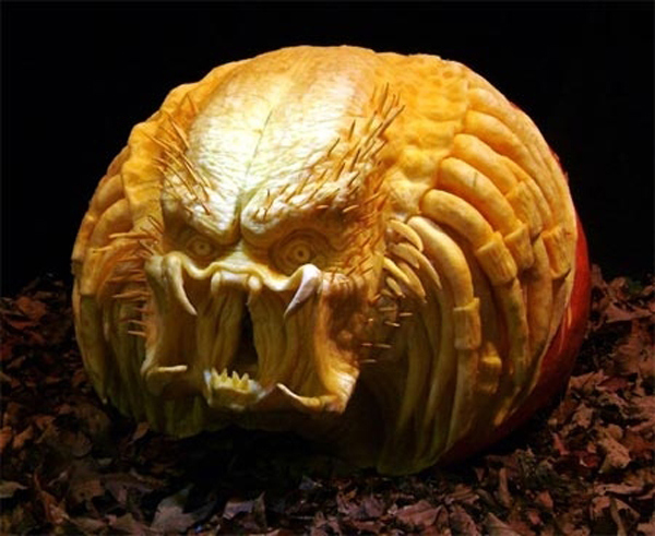 Predator Pumpkin Carving