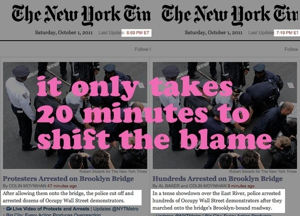 The New York Times Turns On #OccupyWallStreet