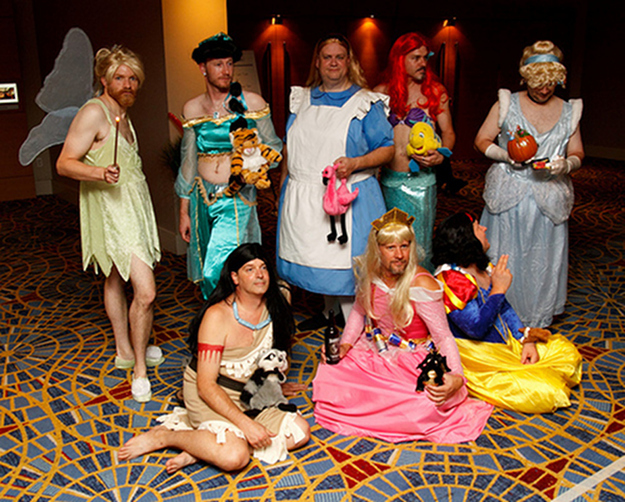 Bunch Of Dudes Dressed Like Disney Princesses