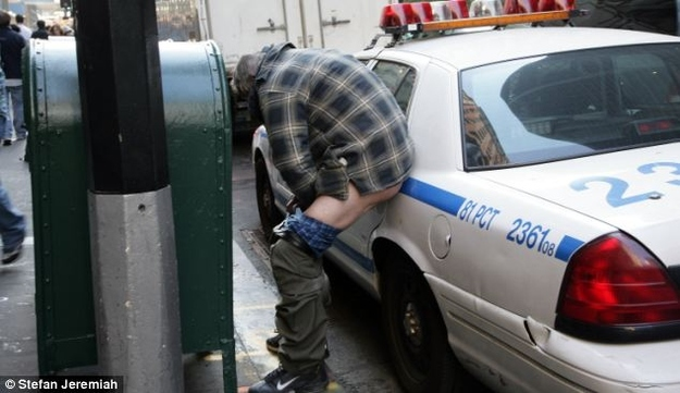 #OccupyWallStreet Protester Takes Dump On Police Car