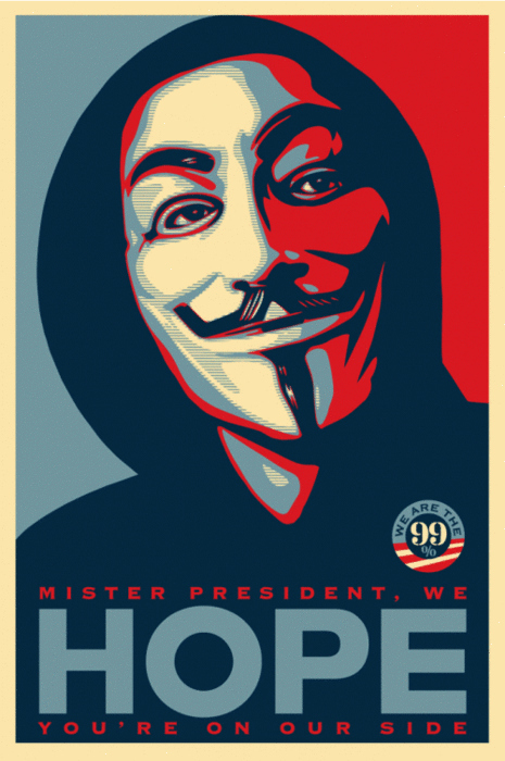 Shepard Fairey Remixes His Iconic Hope Poster For #Occupy