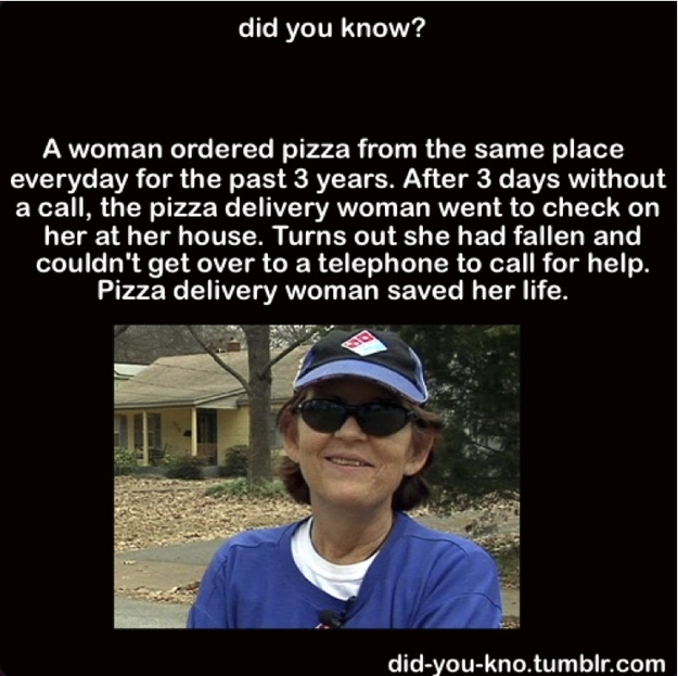 Woman's Life Saved By Her Pizza Habit