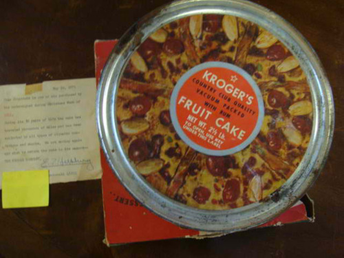 70-Year-Old Fruitcake Auctioned Off, Possibly Edible