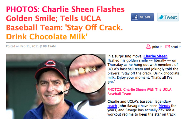 Charlie Sheen's Advice To The UCLA Basketball Team