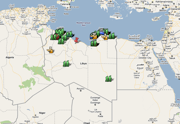 Mapping Pro-Democracy Protests In Libya