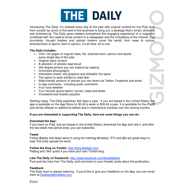 """The Daily"" Launch"