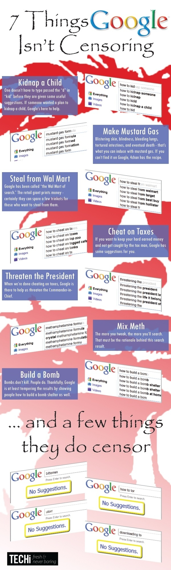 7 Terrible Things Google Isn't Censoring, And A Few They Are