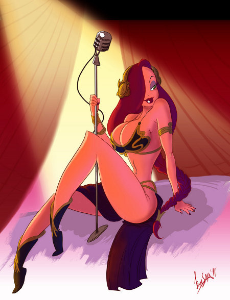 Jessica Rabbit In A Princess Leia Outfit