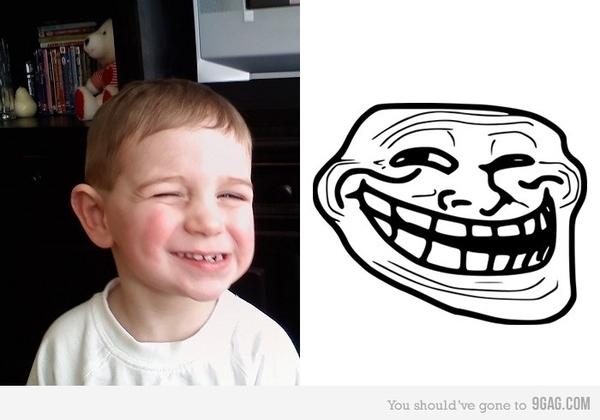 Troll Face Kid