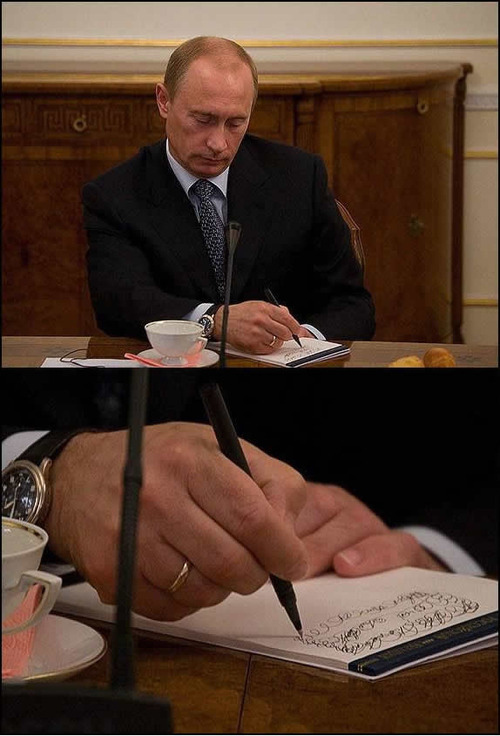 Putin Notes This Meeting Is Boring