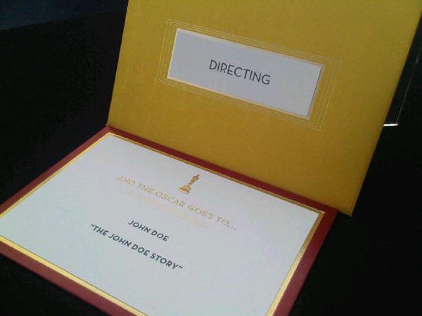 Inside The Oscar Envelopes