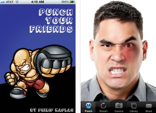 iPhone Punch Your Friend App