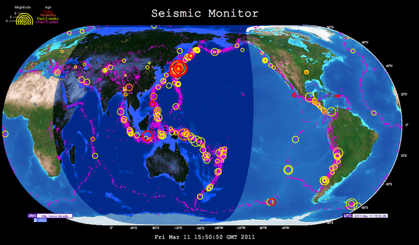 Awesome Interactive Map of Earth's Seismic Activity