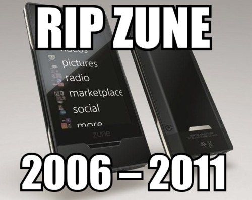 The Zune Is Dead