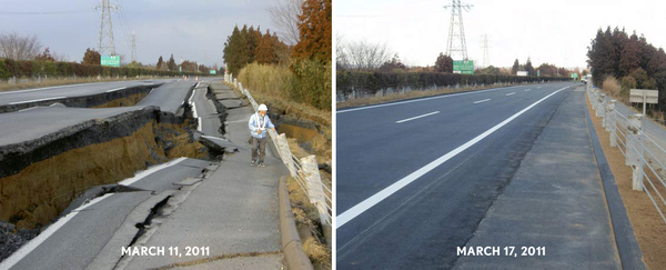 Japan Rebuilds Highway Destroyed in Earthquake in Only 6 Days