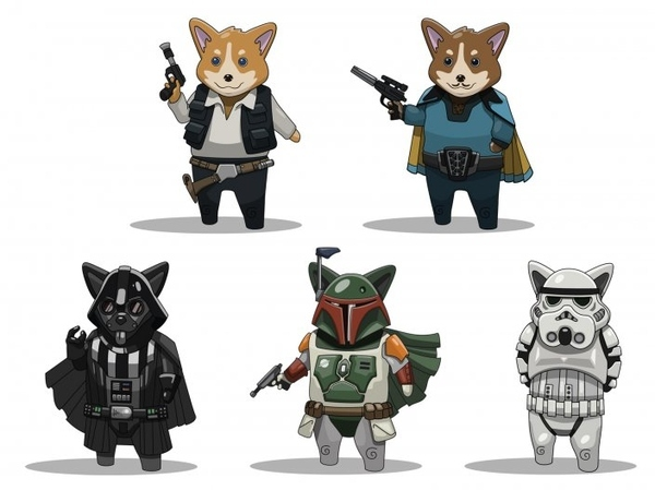 Star Wars Corgis