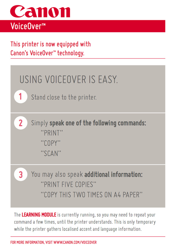 Voice Activated Printer