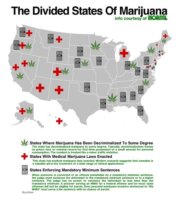 Map Of US Marijuana Laws - Us weed laws map