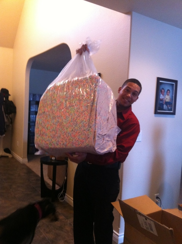 This Is What $110 Worth Of Lucky Charms Marshmellows Looks Like