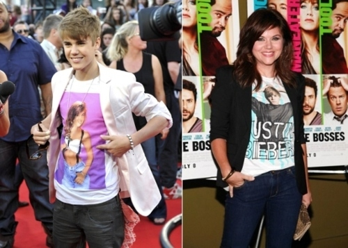 Kelly Kapowski and Justin Bieber Wear Shirts Of Each Other