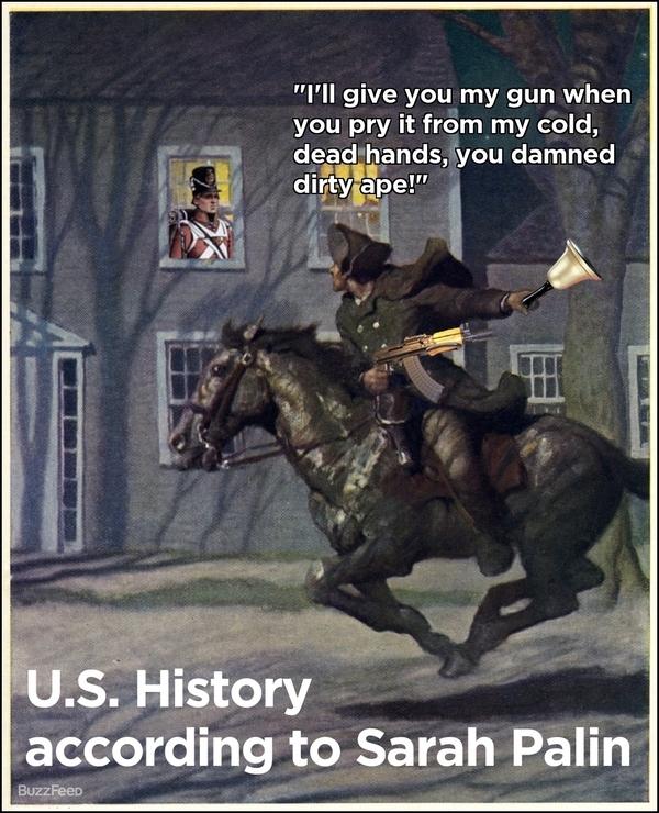 US History According To Sarah Palin