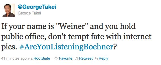 George Takei On The Anthony Weiner Scandal